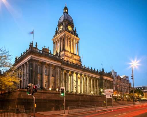 Town Hall wcentrum miasta Leeds